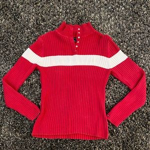 Vintage Tommy Hilfiger Ribbed Sweater Y2K snap